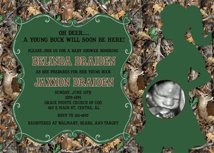 Realtree camouflage camo baby boy shower invitations realtree camo camo05 realtree camouflage camo baby boy shower invitations with deer buck filmwisefo