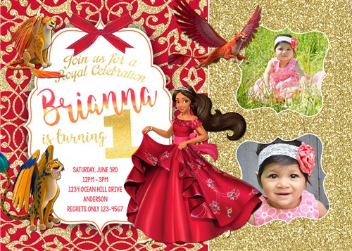 Elena 03 Printable Of Avalor Birthday Party Invitations