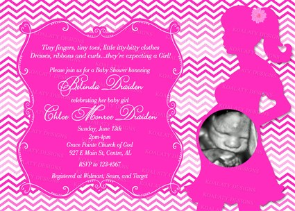 Hot pink chevron baby shower invitations with ultrasound chevron chevrongirl01 hot pink chevron baby shower invitations with ultrasound photo filmwisefo