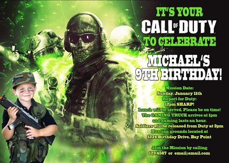 Printable call of duty ghosts birthday invitations filmwisefo