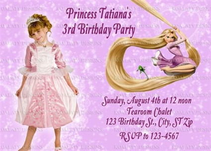 Disneys tangled birthday invitations filmwisefo