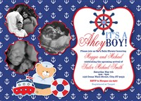 Nautical Anchor Baby Shower Invitations Multi-photo