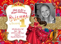 Custom Elena of Avalor Birthday Party Invitations