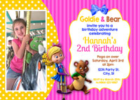 Goldie and Bear Birthday Party Invitations