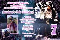Michael Jackson Birthday Invitations For Girls