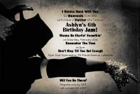 Michael Jackson Birthday Invitations With Glove