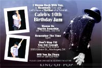 Printable Michael Jackson Dance Party Invitations