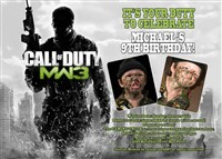 Call of Duty MW3 Birthday Invitations with photos