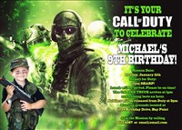 Printable Call of Duty Ghosts Birthday Invitations