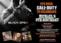 Call Of Duty Birthday Invitations Call Of Duty Ticket Birthday
