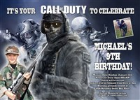 Call of Duty Game Birthday Invitations