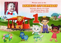 Printable Daniel the Tiger Birthday Party Invitations with Photo