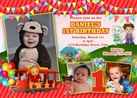Personalized Daniel the Tiger Birthday Party Invitations