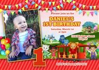 Daniel Tiger's Neighborhood Train Birthday Invitations
