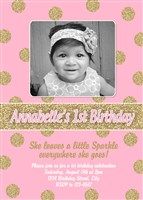 She Leaves a Little Sparkle Everywhere She Goes Birthday Invitations