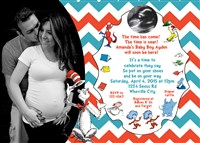 Printable Dr Seuss Baby Shower Invitations with Couples Photo
