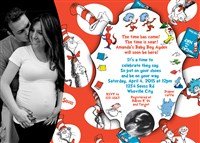 Dr Seuss Baby Things Everywhere Shower Invitations Sonogram Photo