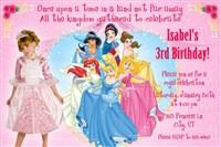 Disney Princess Group Party Invites