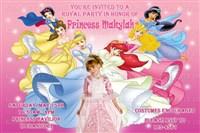 Printable Disney Princess Group Birthday Party Invitations