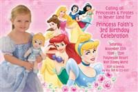 Pink Princess Group Birthday Party Invitations