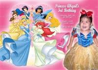 Disney Princess Birthday Invitations with Photo