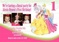 Disney Princess & Horse Birthday Invitations with Photos